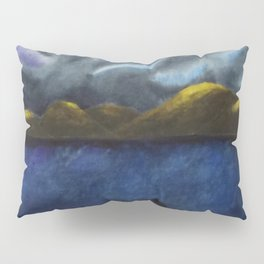 Northern Lights / Watercolor Painting Pillow Sham