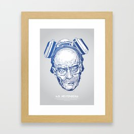 Mr. Heisenberg Framed Art Print