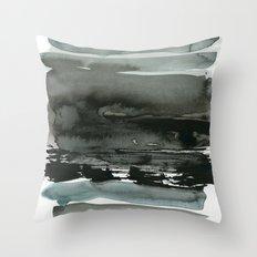 layered ink Throw Pillow
