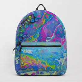Acrylic Pour - Rainbow Paddle Pop Backpack