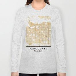 VANCOUVER CANADA CITY STREET MAP ART Long Sleeve T-shirt