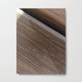Wooden beams Pattern Metal Print