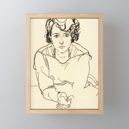 Egon Schiele -Seated Woman Framed Mini Art Print