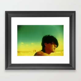 Asian Green and Yellow Framed Art Print