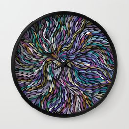 Aboriginal Pattern No. 18 Wall Clock