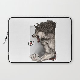 Angry Face Laptop Sleeve
