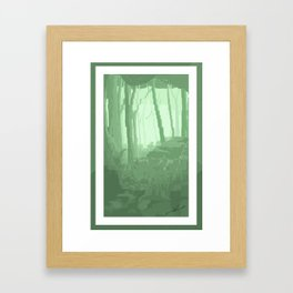 Lo Res Grove Framed Art Print