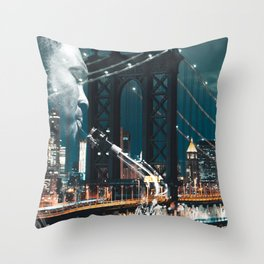 Jazz in New york Throw Pillow