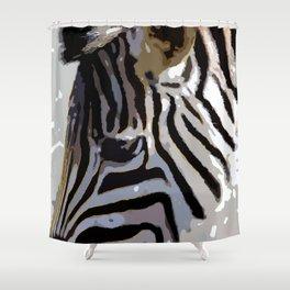 Zebra-Art Shower Curtain
