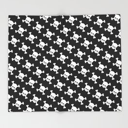 Skull Crossbones Symbol Throw Blanket