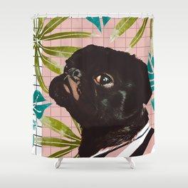 Pug on an Island Shower Curtain