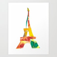 Colorful France Art Print