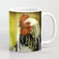 rooster Mugs featuring Rooster by LudaNayvelt