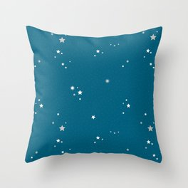 Starry Night - Blue Throw Pillow