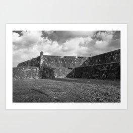 These Castle Walls Art Print
