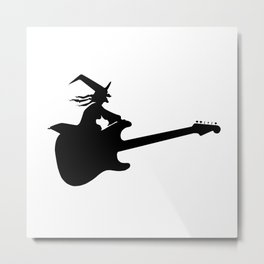 Guitar Witch Metal Print