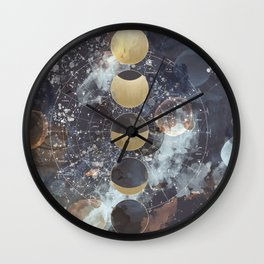Lunar Phases Wall Clock