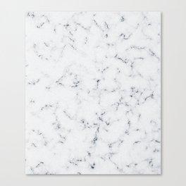Baesic White Marble Texture Canvas Print