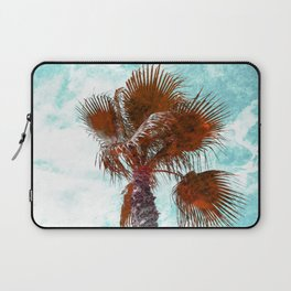 Orange marbled Palm Tree Laptop Sleeve