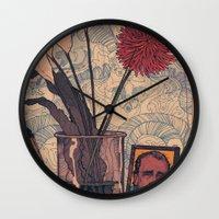 bukowski Wall Clocks featuring its bukowski by TYLER WINTERMUTE