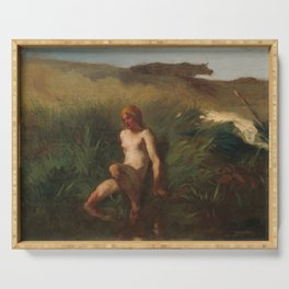 The Bather, Jean-Francois Millet, 1846 Serving Tray