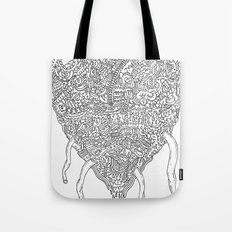 Doodle Heart Tote Bag
