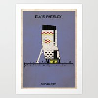 elvis presley Art Prints featuring Elvis Presley by federico babina