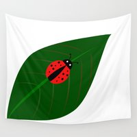 bug Wall Tapestries featuring Lady Bug by UMe Images