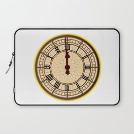 Big Ben Midnight Clock Face Laptop Sleeve