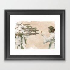 Flowers for Alderaan Framed Art Print