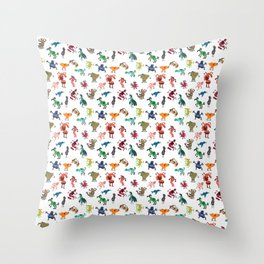 Colorful bunch Throw Pillow