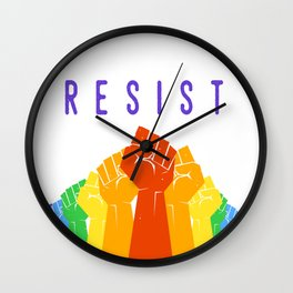 Resist (Pride) Wall Clock