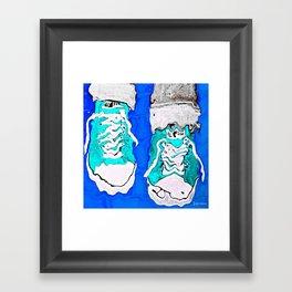 MELTING SNEAKERS Framed Art Print