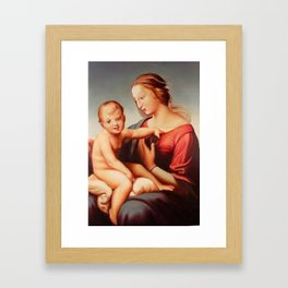 Madonna with child Framed Art Print