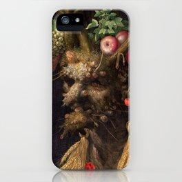 Four Seasons In One Head - Giuseppe Arcimboldo iPhone Case