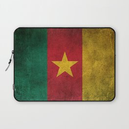 Old and Worn Distressed Vintage Flag of Cameroon Laptop Sleeve