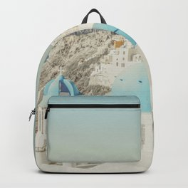 Santorini in Greece Backpack