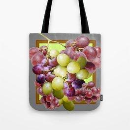 DECORATIVE PURPLE & GREEN GRAPE CLUSTER DESIGN Tote Bag