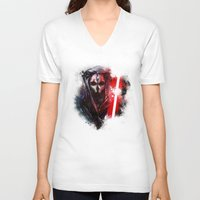 darth V-neck T-shirts featuring Darth Nihilus by Vincent Vernacatola