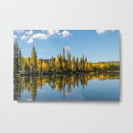 Autumn - 0746 Aspen Mirror Lake, Utah Metal Print