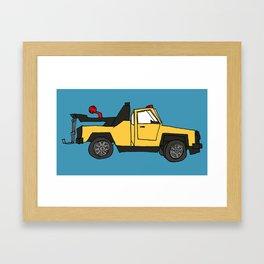 Tow Truck Framed Art Print