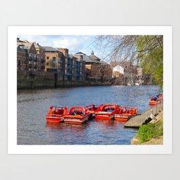 York pleasure boats Art Print