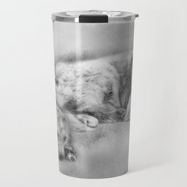 Golden Retriever young and old Travel Mug