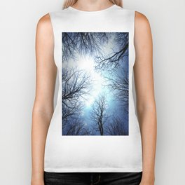 Black Trees Blue sky Biker Tank