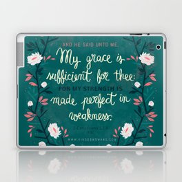2 Corinthians12:9 Laptop & iPad Skin