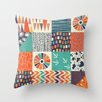 alisa burke Throw Pillows featuring OUT OF AFRICA by Daisy Beatrice