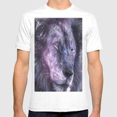 galaxy lion leo White MEDIUM Mens Fitted Tee