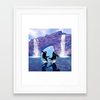 orca Framed Art Prints featuring Orca  by nicky2342