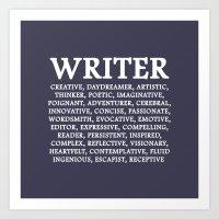 writer Art Prints featuring WRITER by IDMP