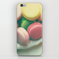 macarons iPhone & iPod Skins featuring Macarons  by Marianne LoMonaco